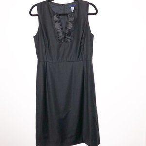 J. Crew Black Scalloped Dress